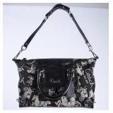 Black/Gray Patterned Coach Hand Bag