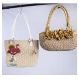 2 Brighton Woven Hand Bags