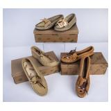 3 Pairs of Cherokee-Made Moccasins w/ OB