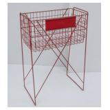Red Metal Wire Display Stand