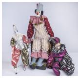 3 Clown/Jester Dolls, 1 is Dollcrafter Classics