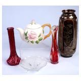 Glass & Ceramic Vases & More Home Decor Lot