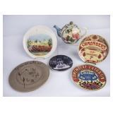Ceramic Tea Pot & 5 Collector