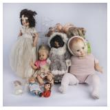 Lot of Various Plastic Dolls