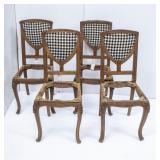 4 Matching Antique Shield-Back Side Chairs