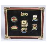 John Deere Enamel Pin Collection in Frame