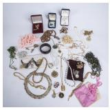 Lot of Costume Jewelry Sets, Sterling Silver Ring