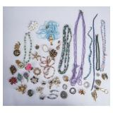 Lot of Costume Jewelry Necklaces & Brooches