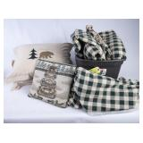 2 Country Twin Comforters w/Pillows/Dust Ruffles