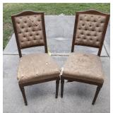 2 Matching Side Chairs w/Tufted Backs