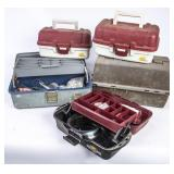 5 Tackle Boxes w/ Assorted Tackle