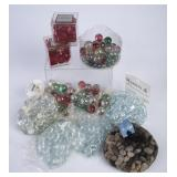 Lot of NIP Decorative Marbles & Pebbles