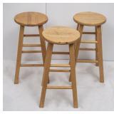 3 Pine Bar Stools
