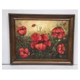 """Large Framed """"Poppies"""" Painting"""