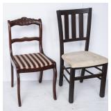 2 Chairs w/ Upholstered Seats