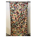 """2"""" Squares Hand Quilted Quilt 40x82""""l"""