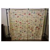 """Large Fan Hand-made Quilt, 72""""x70"""""""