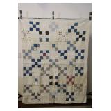 """White-blue Hand-made Quilt 60x76"""""""