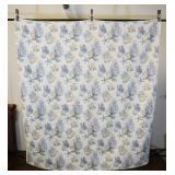 "Large Quilt With Seashore Design, 86x93"""