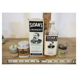 5 Piece Apothecary Set, Sloans Liniment, More.