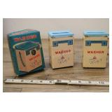 Vintage Chiilds Toy Miniature Washers, One Box