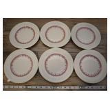 "6 Vtg Staffordshire Shenango 8"" Plate, 1o2"