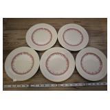 "5 Vtg Staffordshire Shenango 8"" Plate, 2o2"
