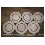 "6 Vtg Staffordshire Shenango 6"" Plates, 2o2"