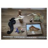 Assorted Beachy Decor- Seahorse, Seaguls, Etc
