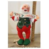 """1992 Annalee 18"""" Santa With Merry Christmas Banner"""
