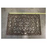 "28.5"" Rectangular Cast Iron Door Mat"