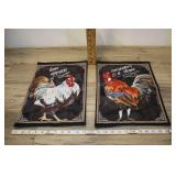 Rooster Serving Placemats, Black