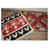 Rooster Service-placemat, Red Black
