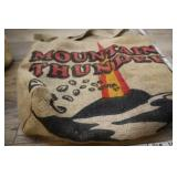 Mountain Thunder Burlap Tote Bag With Liner