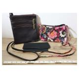 Leather Fossil Bag, Black Leather Bill Fold And