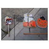 4 Halloween Yard Art, Ghosts And Pumpkins For Next
