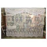 """Sheer Curtain And Valance Set, 55x86"""" White"""