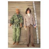 Pair Of 1968 Ken Dolls, Army Ken & Mod Ken