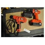 "Black & Decker 5.2 Amp Corded Drill 3/8"" 1500 Rpm"