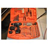 Black & Decker Tool Kit - 12v Drill, Wrenches,