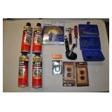 Assorted Lot - Carb Cleaner, Wire Wheel, Other