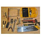 Assorted Tools - Stanley Hand Saw, Husky Saw, Misc