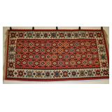Sarkoy Kilim Vintage Rug Red, Black, Blue