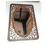 """Vintage Molded Plastic Mirror 16.5""""x 24.5"""""""