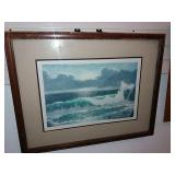 "Artist Etching ""california Coast"" 78/250, J."