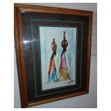 Framed Southwest Style Print By Degrazia, Nicely