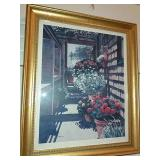 "Framed Print By Joan Reeves 37/500 24""x29""."