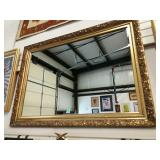 "Large Gold Frame Mirror. 48""x35"""