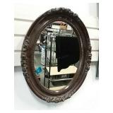 "Oval Mirror With Rose Detail. 16""x20"""