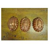 Copper Food Mold Set, Vintage, Portugal,